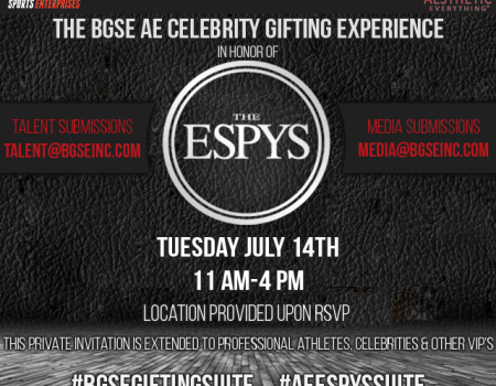 BG Sports Aesthetic Everything Celebrity Gifting Suite in honor of the ESPY Awards