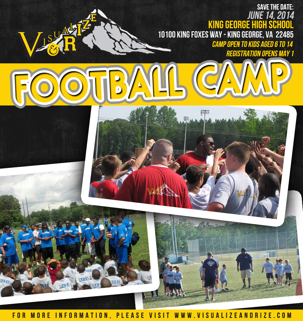 "Jermon Bushrod's 5th annual ""Visualize and Rize"" Celebrity Football Camp"