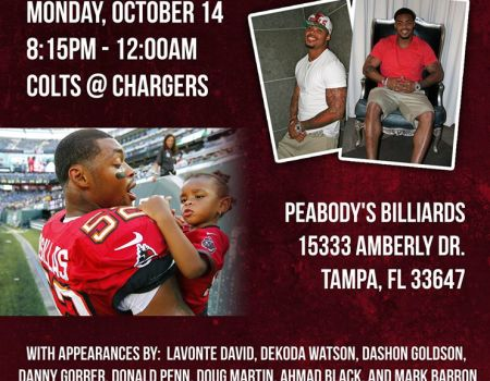 MNF Celebrity Charity Watch Party to benefit Kids Charity of Tampa Bay