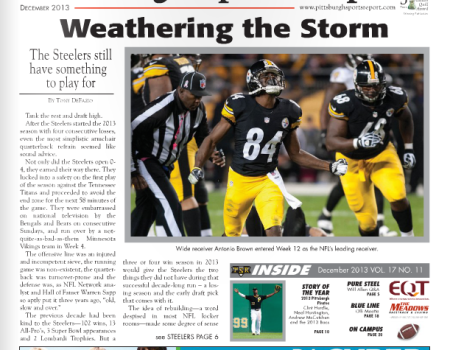 Steelers Will Allen in the December issue of Pittsburgh Sports Report
