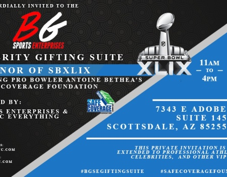 BGSE  Superbowl XLIX Celebrity Gifting Suite